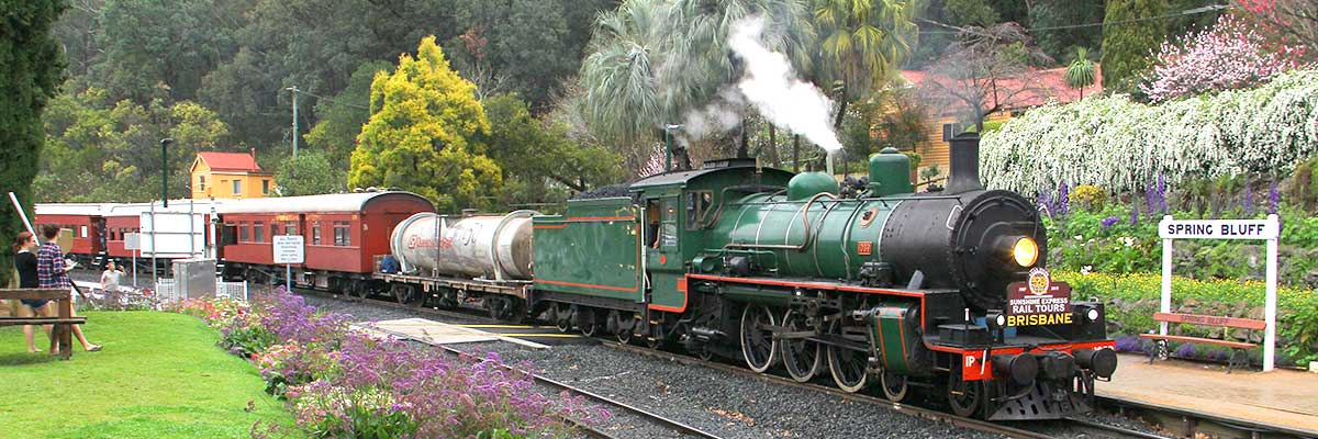 Steam Train Toowoomba to Helidon